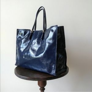 Talbots ▪ Patent Leather Carry-All Tote